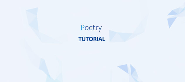 Python package management met poetry